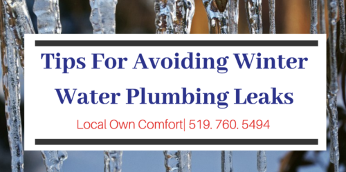Guelph Plumber - Tips for Avoiding Winter Plumbing Leaks