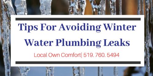 Guelph Plumber - Tips for Avoiding Winter Plumbing Leaks